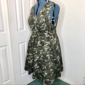 Eloquii Dresses - Eloquii Sleeveless Fit&Flare Camo Dress SZ 22